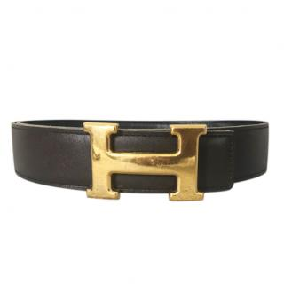 Hermes Brown & Black Reversible Constance Belt