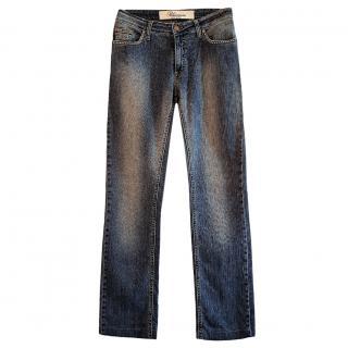 Blumarine Straight Leg Blue Jeans