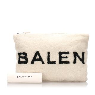 Balenciaga Sterling Logo Clutch Bag