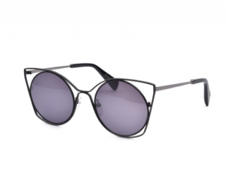 Yohji Yamamoto Matt Black/Grey Cat Eye sunglasses