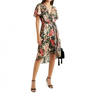 Anna Sui floral pleated dress
