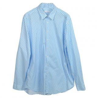 Etro Spotted Blue & White Men's Shirt