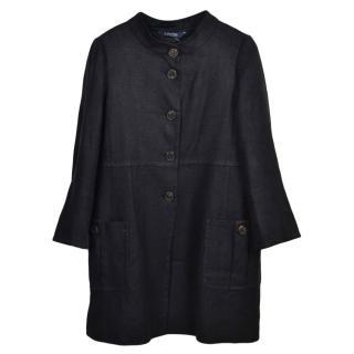 Max Mara Black Linen Coat