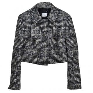 Akris Houndstooth Check Cropped Jacket