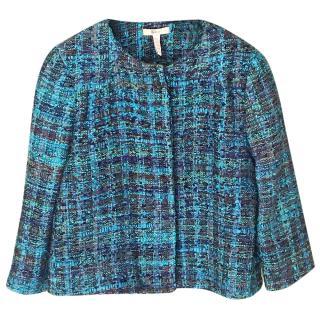 Ederm Blue Tweed Short Jacket