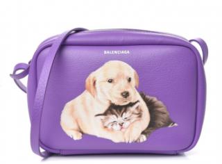 BALENCIAGA Calfskin Puppy and Kitten Everyday Camera Bag