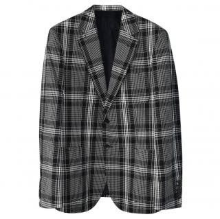 Gucci Men's Plaid Single Breasted Jacket