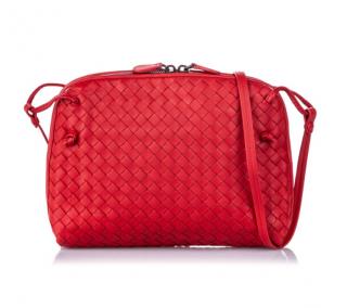 Bottega Venetta Intrecciato Nodini Leather Crossbody Bag