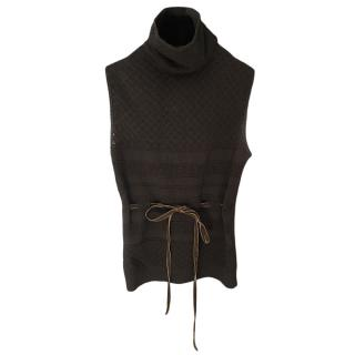 Valentino Olive Knit Roll Neck Sweater
