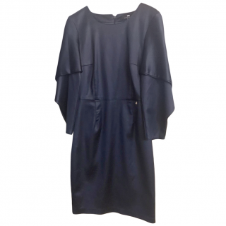 Elisabetta Franchi Blue Satin Dress