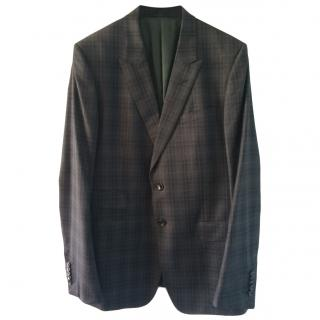Gucci Single Breasted Plaid Jacket