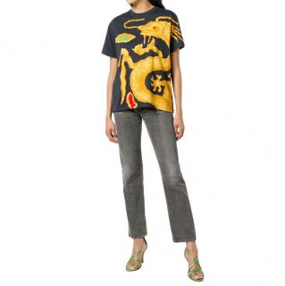 Valentino Dragon Re-edition T-shirt In Black