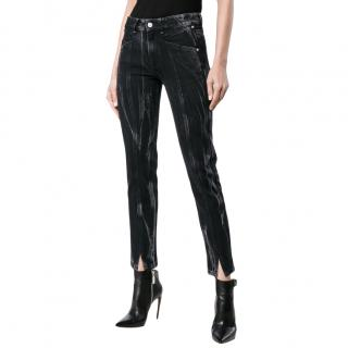Givenchy black marble slim fit jeans