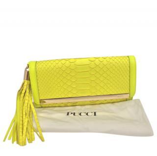 Emilio Pucci Yellow Python Clutch Bag