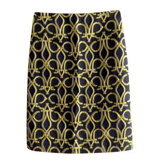 Emilio Pucci Brocade Black & Gold Skirt