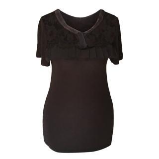 Valentino Black Lace Top