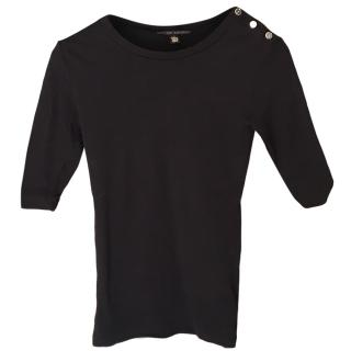 Ralph Lauren Black Stretch Cotton Top