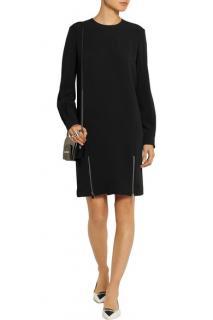 Stella McCartney Alexia zip-detailed stretch-crepe dress