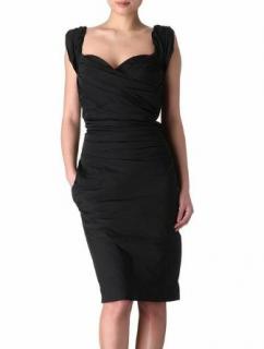 Vivienne Westwood Black Corseted Draped Dress