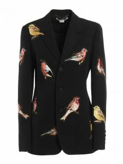 Stella McCartney Embroidered Bird black Blazer