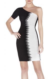 Herve Leger Cintia one sleeved dress
