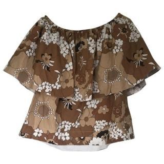 Chloe off the shoulder floral patterned top