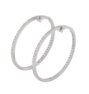 Boodles Diamond Hoop Earrings