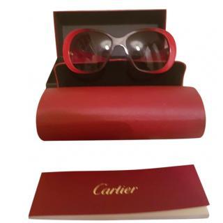 Cartier red gradient acetate sunglasses