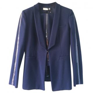 Versace Collection embellished blue  trouser suit