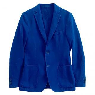Officine Generale blue striped cotton jacket/blazer