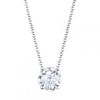 Bvlgari White Gold Necklace Set with a Brilliant Cut Diamond