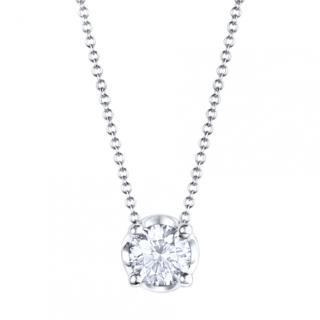 Bvlgari White Gold Necklace Set with a Brilliant Cut Diamond