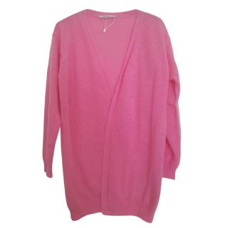 MaxMara pink mohair blend cardigan