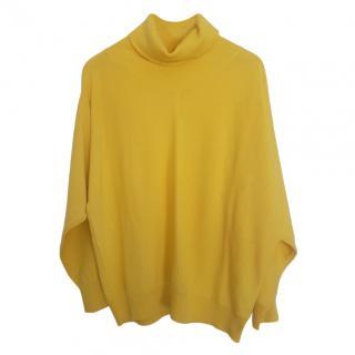 Max Mara Yellow Wool Roll Neck Jumper