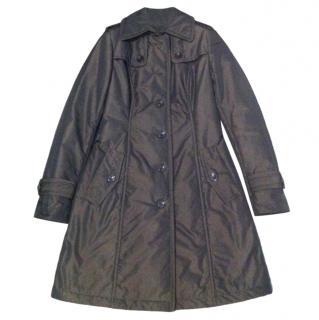 Armani Collezioni brown classic waterproof trench coat