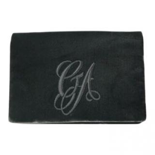 Giorgio Armani green velvet shoulder bag