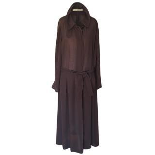 Hermes Brown Sheer Overcoat