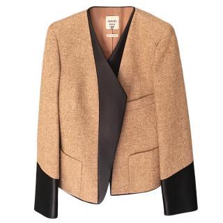 Hermes Fine Tweed & Lambskin Jacket