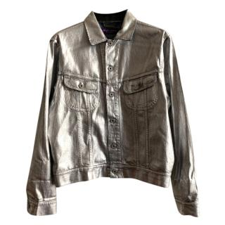 Ralph Lauren purple label silver denim jacket