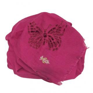 Emilio Pucci Pink Cashmere & Silk Scarf