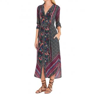 Saloni Molly Multi-Print Silk Dress
