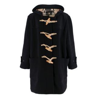 Burberry Black Wool The Greenwich Duffle Coat