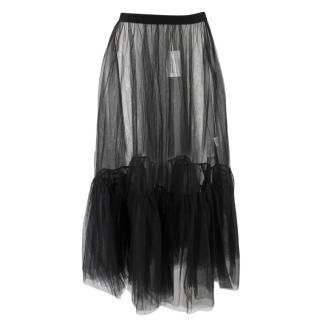 Osman Matilda Flounce Hem Sheer Tulle Skirt