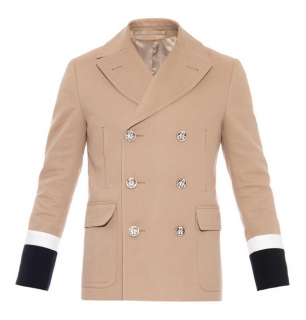 Gucci Double Breasted Peacoat W/ Contrast Cuffs