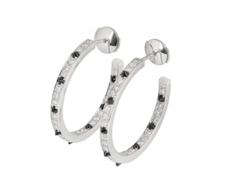 Cartier Panth�re Diamond and Spiked-Shaped Onyx White Gold Hoops