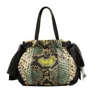 Prada Satin St Pitone Tote Bag