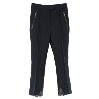 Bottega Veneta Black Wool Blend Flared HemTrousers