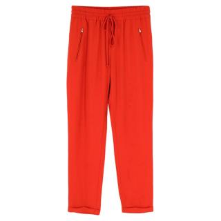 Stella McCartney Red Lightweight Joggers