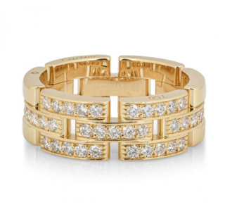 Cartier Yellow Gold Panthere Diamond Ring