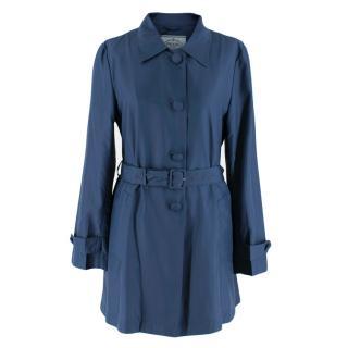 Prada Blue Button Down Light Weight Silk Jacket